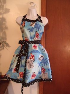 Elvis Presley Blue Hawaii Retro Apron by MoonDaisyAprons