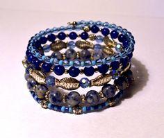 pretty beaded bangle made by Наталья Горюнова from LC.Pandahall.com