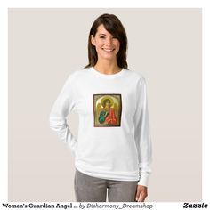 Women's Guardian Angel Long Sleeve T Shirt - Fashionable Women's Shirts By Creative Talented Graphic Designers - #shirts #tshirts #fashion #apparel #clothes #clothing #design #designer #fashiondesigner #style #trends #bargain #sale #shopping - Comfy casual and loose fitting long-sleeve heavyweight shirt is stylish and warm addition to anyone's wardrobe - This design is made from 6.0 oz pre-shrunk 100% cotton it wears well on anyone - The garment is double-needle stitched at the bottom and…