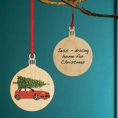 Your Car Personalised Bauble. Discover stylish, personal and wonderfully unique Christmas decorations to turn your home into a festive wonderland.