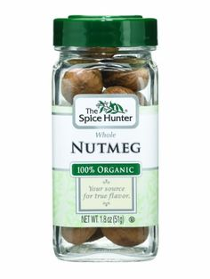 The Spice Hunter Nutmeg, Whole, Organic, 1.8-Ounce Jar - http://spicegrinder.biz/the-spice-hunter-nutmeg-whole-organic-1-8-ounce-jar/