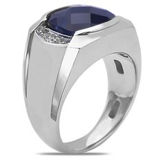 Ebay NissoniJewelry presents - .04CT Men's Ring w/ Created Sapphire w/ Jback 10k W/Gold    Model Number:GRV3517AW077CSJ    http://www.ebay.com/itm/04CT-Mens-Ring-w-Created-Sapphire-w-Jback-10k-W-Gold-/222062074671
