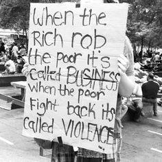 rich vs poor #classwarfare #protest #wallstreet