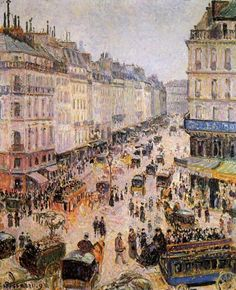 """""""Rue Saint-Lazare"""" - Camille Pissarro"""