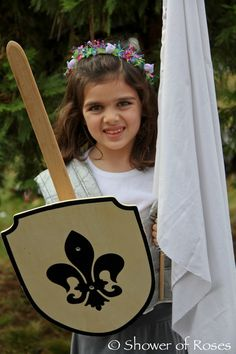 Shower of Roses: St. Joan of Arc, Maid of Lorraine :: All Saints' Day Costume Saint Joan Of Arc, St Joan, Holidays Halloween, Halloween Costumes For Kids, Halloween Festival, Joan Of Arc Costume, Holiday Crafts For Kids, Kids Crafts, Holiday Fun