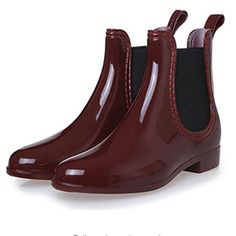 Cheap boots shoe insoles, Buy Quality shoes hot directly from China shoe boot dryer Suppliers: High quality fashion solid color girls boots Low cylinder autumn and winter shoes elastic band decoration Women's boots Low Heel Ankle Boots, Low Heel Shoes, Knee High Boots, Rain Boots Fashion, Fashion Shoes, Red Fashion, Fashion Clothes, Rain Shoes, Slippers