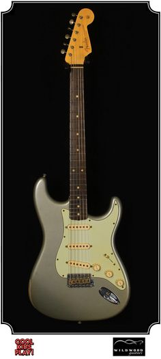 """Dealer Select Wildwood """"10"""" Relic : 59  Stratocaster built by the Fender Custom Shop for Wildwood Guitars. Relic'd faded Inca Silver"""