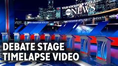 A pretty cool video of the ABC Democratic Debate set being constructed at Houston's Texas Southern University in Sept 2019 Stage, Abc News, Pretty Cool, Over The Years, Houston, Southern, University, Texas, Construction