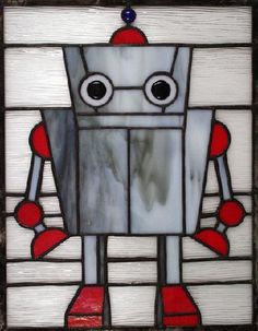 Take me to your cuteness.  Stained glass robot.