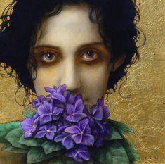 Ophelia, by Jose Luis Munoz Luque. Illustrations, Illustration Art, Bachelor Of Fine Arts, Spanish Painters, Renaissance Paintings, Portraits, Pansies, Creative Art, Amazing Art