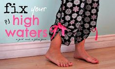 A girl and a glue gun: fix your high waters pajama pants....