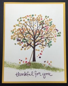 Sheltering Tree by Deborah Vanderburg, My Take on an Autumn/Fall Tree  Stampin' Up!