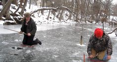 Ken Beam & Eric Hildebrant havin` a few laughs on the ice Giggin` Suckers in Califon NJ - 1/25/2014 *Click the picture to see a Video of us Giggin` Suckers!