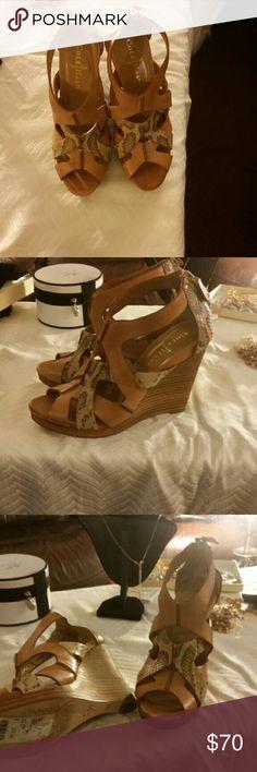 4310ae719044d Brown Cole Haan wedge high heels Cole Haan wedge high heels, brown, size 6