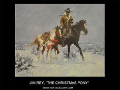 "Western Art by Jim Rey, ""The Christmas Pony"""