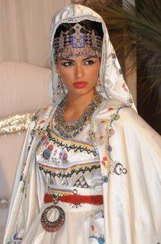 Traditional Algerian wedding dress.