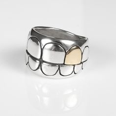 Sparrow & Co Jewellery.  Grills Ring with 9ct Gold tooth. www.sparrowco.co.nz