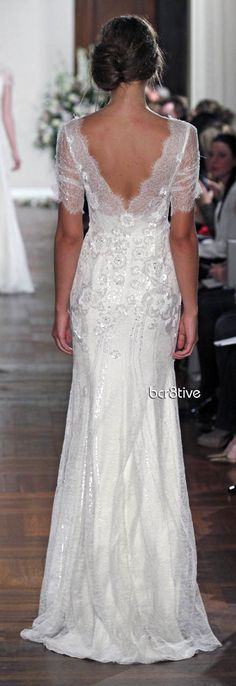 Jenny Packham Spring Summer 2013 - Mimosa Gorgeous wedding dress with lace #weddingdresses