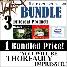 In a pinch and need to help your students understand the works of Ralph Waldo Emerson and Henry David Thoreau? Kick back and think about Nature because in just one click it can all be done for you! There are three products available in this bundle that can be found here:Emerson- Nature and Self-Reliance Mini-Unit!