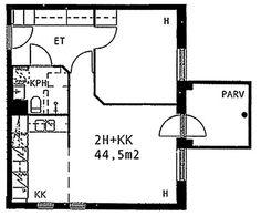 Humikkalantie, Mellunkylä, Helsinki, 2h+kk 44,5 m², SATO vuokra-asunto