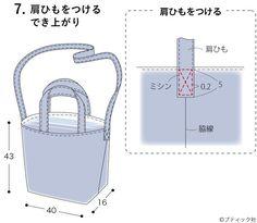簡単!ショルダーバッグにもなるリバーシブルのトートバッグの作り方 | ぬくもり