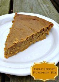 Self Crust Pumpkin Pie - Just 2 Sisters