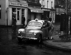 Peugeot 203 Taxi Taxi, Vintage Photographs, Peugeot, Cars And Motorcycles, Automobile, Bike, France, World, Vehicles