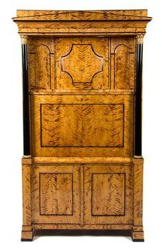 A Biedermeier Gilt Metal Mounted Secretaire a Abattant  |  Fine Furniture and Decorative Arts Auction
