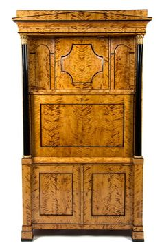 A Biedermeier Gilt Metal Mounted Secretaire a Abattant  |  Fine Furniture and Decorative Arts Auction