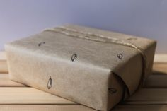 printed brown paper wrapping
