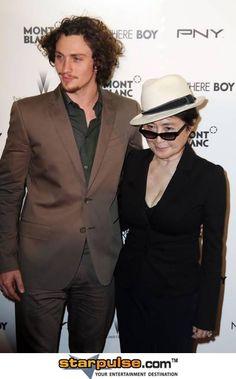 Nowhere Boy -Actor 2010 (John Lennon) and Yoko Ono Lennon