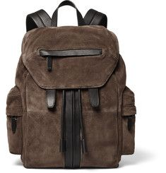 Alexander Wang - Marti Leather-Trimmed Suede Backpack