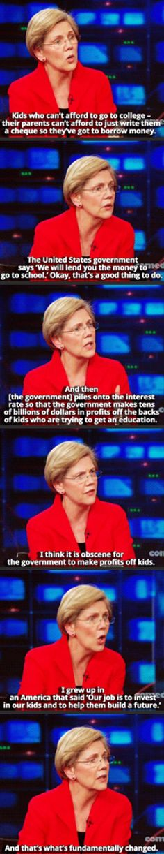 Elizabeth Warren is amazing!