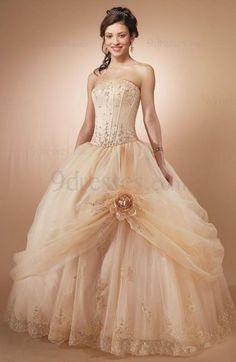 Cinderella Full Skirt Sleeveless Lace up Flower Floor Length Sweet 16 Dress