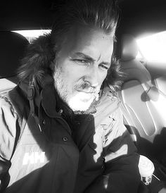 """Alright, technically a """"filter"""", but B&W is """"the original"""". look at the static hair stick up--that's NF! Static Hair, Stuck Up, Hair Sticks, This Man, Stylish Outfits, Hot Guys, Filters, Handsome, The Originals"""