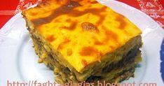 Παστίτσιο κλασικό Cookbook Recipes, Pasta Recipes, Dinner Recipes, Cooking Recipes, Greek Recipes, Recipe Box, Lasagna, Quiche, Frozen