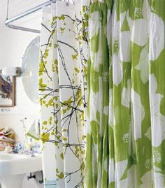 Bathroom,Beautiful Shower Curtains Modern Designs With White Silk ...