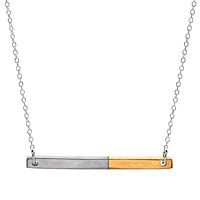 Gold and Pewter Mini Bar Necklace