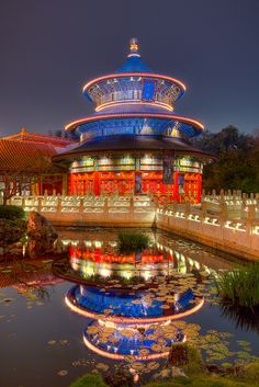 The Chinese Pavilion at Epcot
