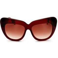 House of Harlow 1960 CHELSEA Sunglasses in Wine with Brown Gradient... ❤ liked on Polyvore