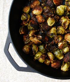 balsamic roasted brussels sprouts with garlic. I don't know why but I have always loved Brussels sprouts.