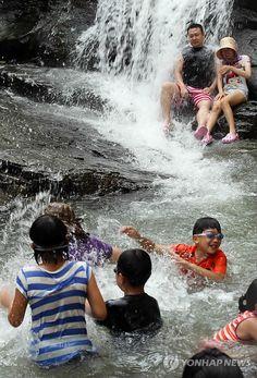 Waterfalls at Myojeoksa, in Namyangju-si, Gyeonggido, Korea!