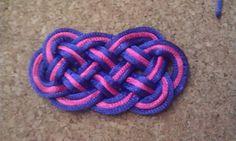 Nudo chino o pallete de ocho puntas. eight-pointed knot