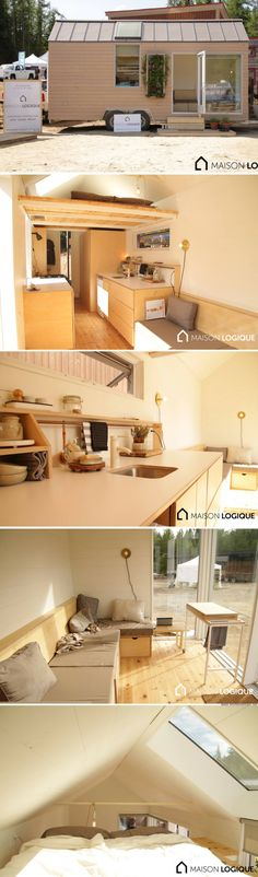"""A stunning, luxury tiny house, called the """"Novio"""", by Ma Maison Logique (210 sq ft)"""