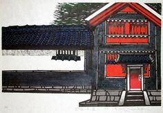 KAWADA Kan 1973 Red Walls of Kurashiki G 02-013 K-5