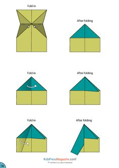 Paper Airplane Instructions – Fuselage | Aeroplanes, Craft ...