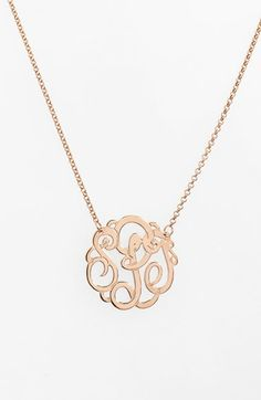 Personalized 3-initial monogram necklace