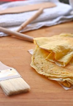 Crepes. Maybe add some spices to the base recipe, like cinnamon or nutmeg for sweet crepes and rosemary or curry for savory