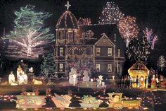 Victorian House Christmas Lights
