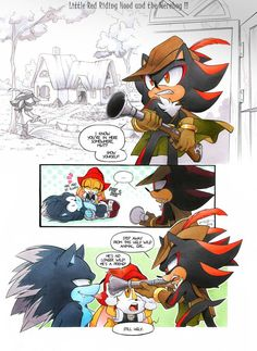 Little Red Riding Hood and the Werehog by FinikArt on DeviantArt Sonic The Hedgehog, Hedgehog Art, Silver The Hedgehog, Shadow The Hedgehog, Shadow And Amy, Shadow Art, Dragon Rey, Sonic Unleashed, Sonic Funny
